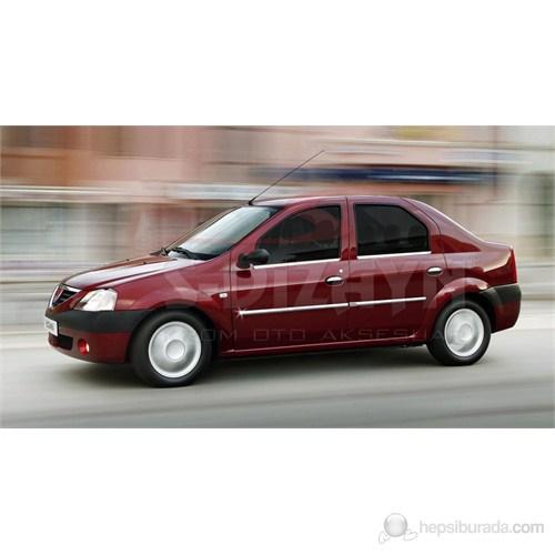 S-Dizayn Dacia Logan 2005> Model ve Üzeri Yan Kapı Çıtası 4 Prç. Krom P.Çelik