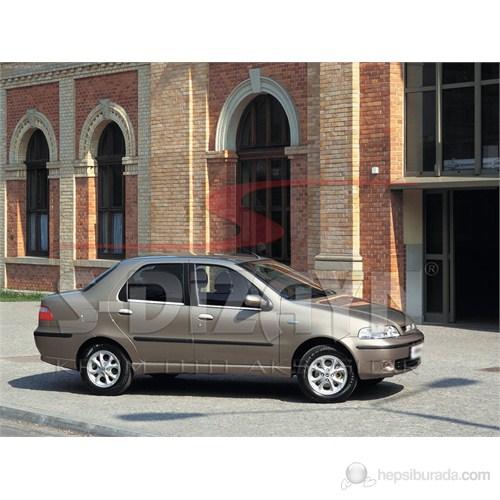 S-Dizayn Fiat Albea 2002> Model ve Üzeri Cam Çıtası 4 Prç. Krom P.Çelik