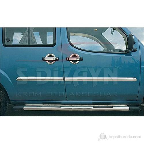 S-Dizayn Fiat Doblo Yan Kapı Çıtası 4 Prç. P.Çelik (2000-2006)