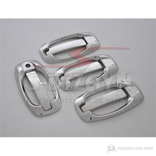 S-Dizayn Fiat Doblo Kapı Kolu 4 Kapı 8 Prç. P.Çelik (Set) (2010>)