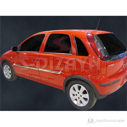 S-Dizayn Opel Corsa C Yan Kapı Çıtası 4 Prç. P.Çelik (2000>)
