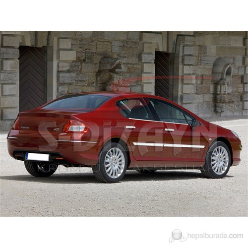 S-Dizayn Peugeot 407 Yan Kapı Çıtası 4 Prç. P.Çelik (2005>)