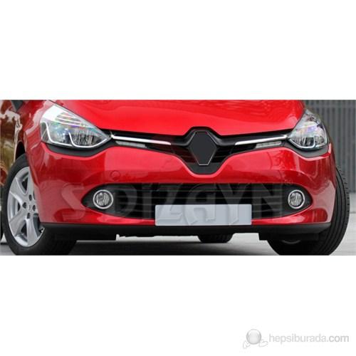 S-Dizayn Renault Clio-4 Ön Panjur 2 Prç. P.Çelik (2012>)