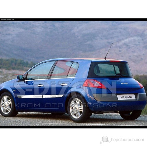 S-Dizayn Renault Megane-II Cam Çıtası 4 Prç. P.Çelik HB (2004-2010)