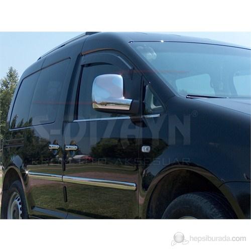 S-Dizayn Vw Caddy Ayna Kapağı 2 Prç. Abs Krom (2004>)