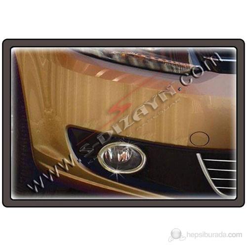 S-Dizayn Vw Caddy Sis Farı Çerçevesi 2 Prç. P.Çelik (2010>)