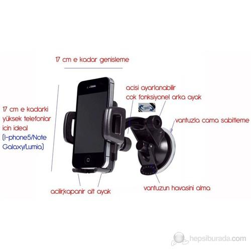 ModaCar Yüksek ve Geniş Telefonlara,Navigasyona Vantuzlu Tutucu