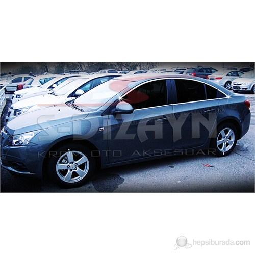 S-Dizayn Chevrolet Cruze Cam Çerçeve Seti 12 Prç. P.Çelik (2009>)