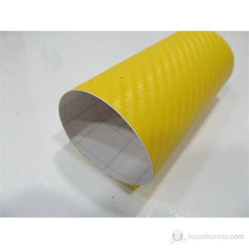 AutoFolyo Sarı Karbon Folyo Hava Kanallı 152 Cm X 100 Cm