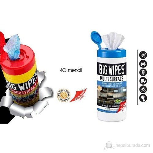 BigWipes Çok Amaçlı Temizlik Mendili 40 ad 093056