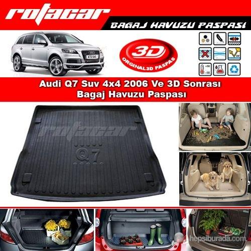 Audi Q7 Suv 4x4 2006 Ve Sonrası 3D Bagaj Havuzu Paspası BG02