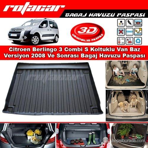 Citroen Berlingo 3 Combi S Koltuklu Van Baz Versiyon 2008 Ve Sonrası Bagaj Havuzu Paspası BG029