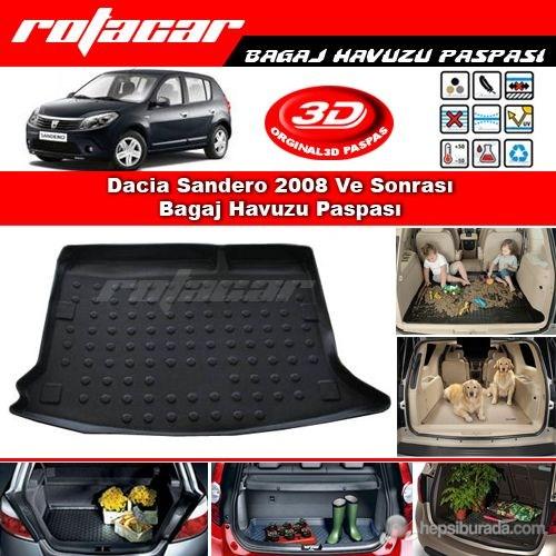 Dacia Sandero 2008 Ve Sonrası Bagaj Havuzu Paspası BG037
