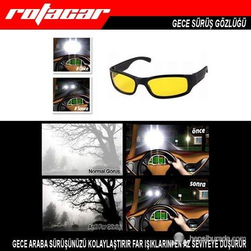 Rotacar Anti-Far Gece Sürüş Gözlüğü