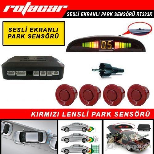 Rotacar Park Sensörü Kırmızı Lensli Led Ekranlı - Rt233K