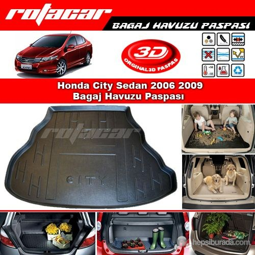 Honda City Sedan 2006 2009 Bagaj Havuzu Paspası BG074