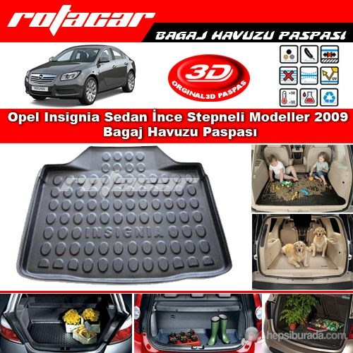 Opel Insignia Sedan İnce Stepneli 2009 Bagaj Havuzu Paspası BG0127