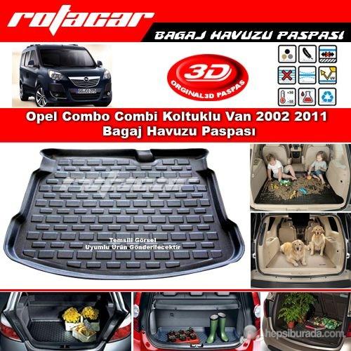 Opel Combo Combi Koltuklu Van 2002 2011 Bagaj Havuzu Paspası BG0130