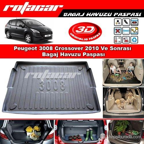 Peugeot 3008 Crossover 2010 Ve Sonrası Bagaj Havuzu Paspası BG0137