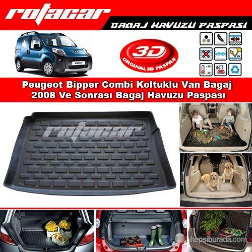 Peugeot Bipper Combi Koltuklu Van Bagaj 2008 Ve Sonrası Bagaj Havuzu Paspası BG0138