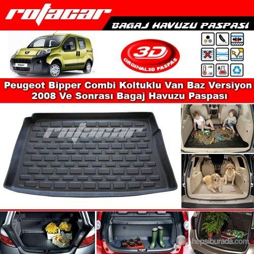 Peugeot Bipper Combi Koltuklu Van Baz Versiyon 2008 Ve Sonrası Bagaj Havuzu Paspası BG0139