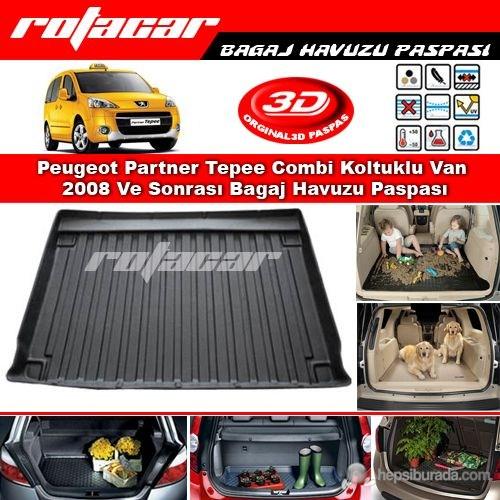 Peugeot Partner Tepee Combi Koltuklu Van 2008 Ve Sonrası Bagaj Havuzu Paspası BG0140