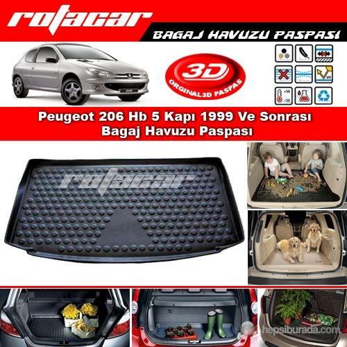 Peugeot 206 Hb 5 Kapı 1999 Ve Sonrası Bagaj Havuzu Paspası BG0147