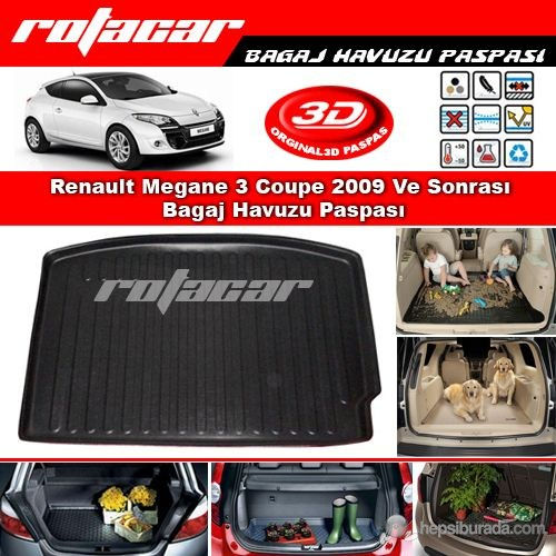 Renault Megane 3 Coupe Bagaj Havuzu 2009-2015 Modeller
