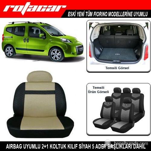 Fiat Fiorino Koltuk Kılıfı Bej Siyah Kket018