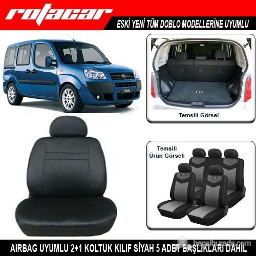 Fiat Doblo Koltuk Kılıfı Siyah Kket013