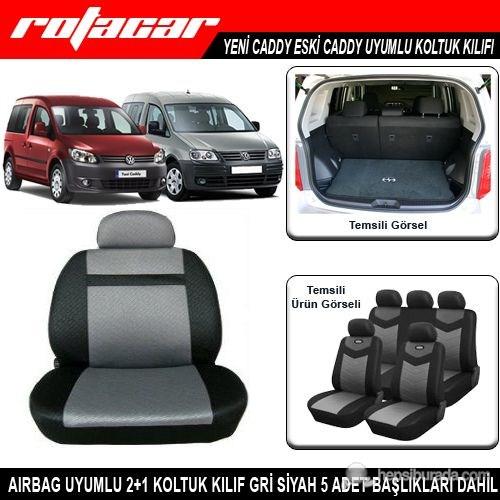 Volkswagen Caddy Koltuk Kılıfı Gri Siyah Kket002