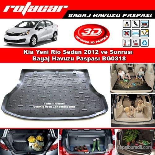 Kia Yeni Rio Sedan 2012 ve Sonrası Bagaj Havuzu Paspası BG0318