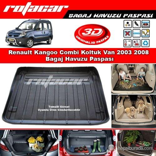 Renault Kangoo Combi Koltuk Van 2003 2008 Bagaj Havuzu Paspası BG0330