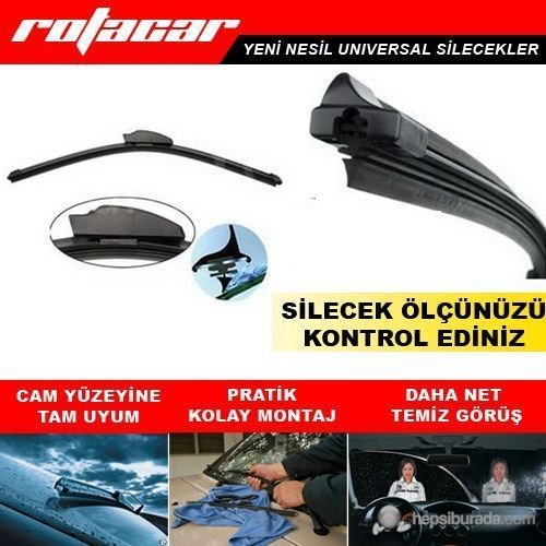 Silecek Süpürgesi Universal Muz Tip 550 mm Rtc0466