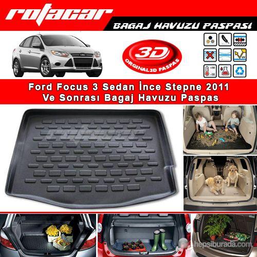 Ford Focus 3 Sedan İnce Stepne 2011 Ve Sonrası Bagaj Havuzu Paspası BG0555