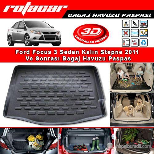 Ford Focus Sedan Kalın Stepne 2011 Ve Sonrası Bagaj Havuzu Paspası BG052