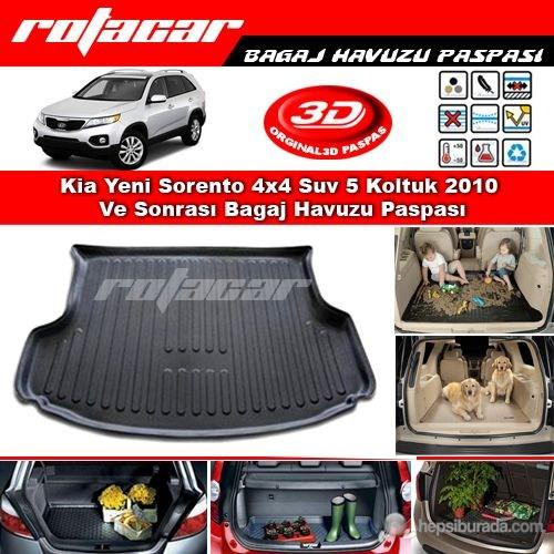 Kia Yeni Sorento 4x4 Suv 5 Koltuk 2010 Ve Sonrası Bagaj Havuzu Paspası BG098