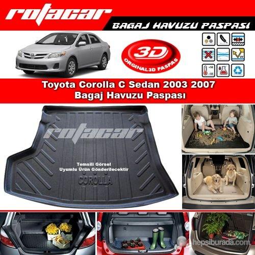 Toyota Corolla C Sedan 2003 2007 Bagaj Havuzu Paspası BG0188