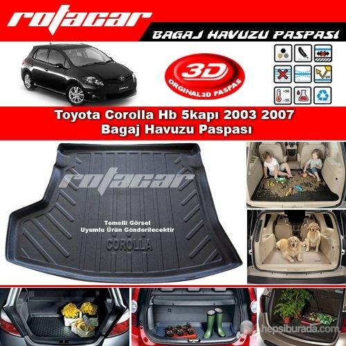 Toyota Corolla Hb 5kapı 2003 2007 Bagaj Havuzu Paspası BG0187