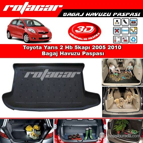 Toyota Yarıs 2 Hb 5kapı 2005 2010 Bagaj Havuzu Paspası BG0184
