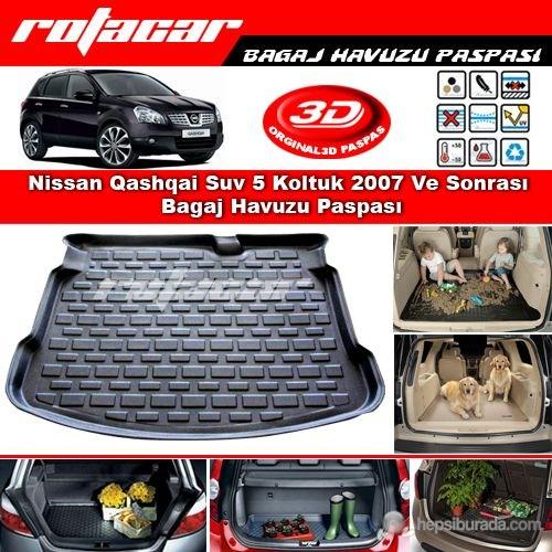 Nissan Qashqai Suv 5 Koltuk 2007-2014 Bagaj Havuzu Paspası