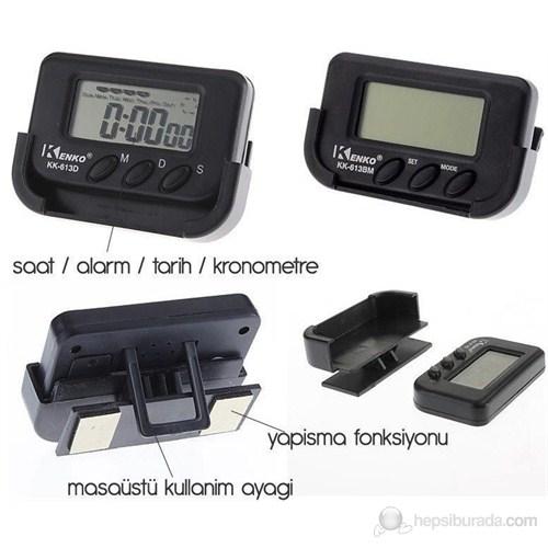 ModaCar Motorsiklet Dijital Saat AlarmTarihKronometre 75d016