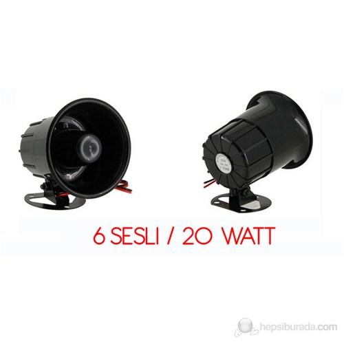 ModaCar 6 Sesli Alarm İkaz Çok Amaçlı Siren 460005