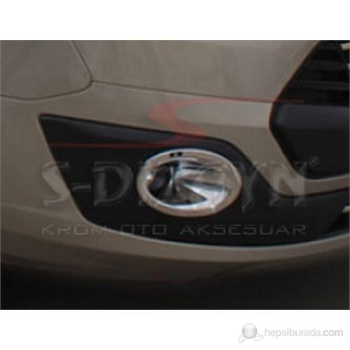 S-Dizayn Ford Tourneo Sis Farı Çerçevesi 2 Prç. Abs Krom (2012)