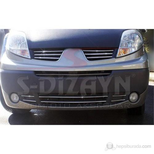 S-Dizayn Renault Trafic Ön Panjur 6 Prç. P.Çelik (2004-2010)