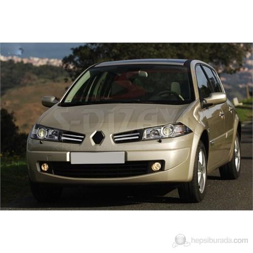 S-Dizayn Renault Megane-II Ön Panjur 4 Prç. P.Çelik HB & SEDAN (2006-2010)