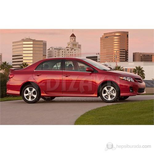 S-Dizayn Toyota Corolla 2007-2013 Model ve Arası Cam Çıtası 4 Prç. Krom P.Çelik