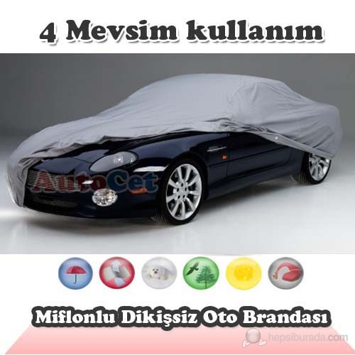 AutoCet Miflonlu,Dikişsiz Araç Brandası (Boyut: 4.15 x 1.60 x 1.43 m) 3057a