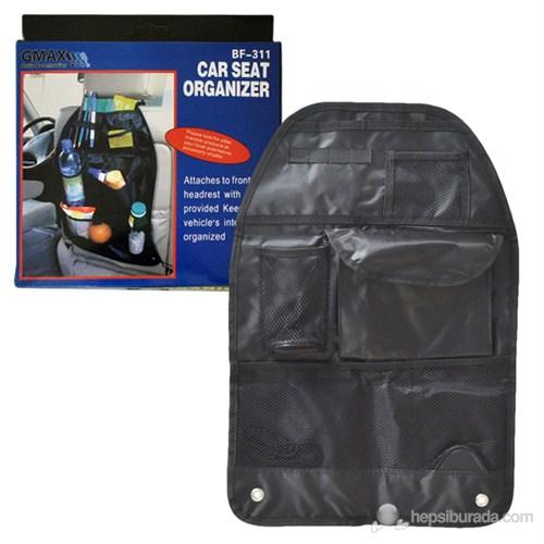 Autocet Katlanabilir Oto Koltuk Arkası Organizer Çanta (SİYAH) - 3153a
