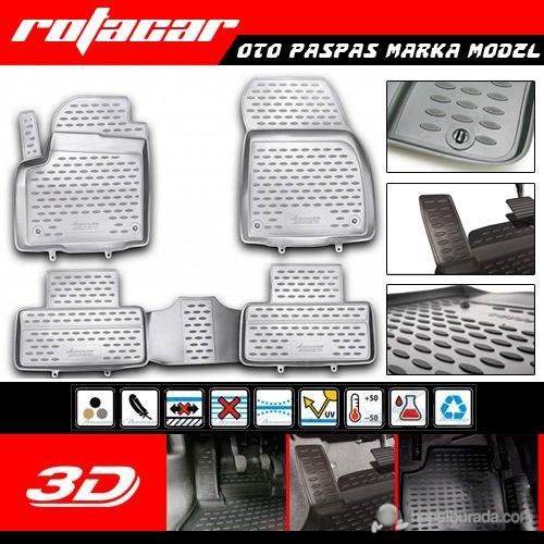 Dacia Sandero 3D Kauçuk Oto Paspas 2010 Sonrası 38353